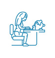 online chatting linear icon concept online vector image vector image