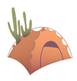 orange camping tent vector image vector image