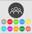 people icon color flat vector image vector image