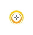 point target logo icon symbol element vector image