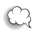 pop art speech bubble cloud halftone style linear vector image vector image