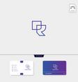 premium initial r rr outline creative logo vector image vector image