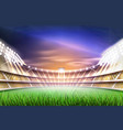 Realistic footbal soccer stadium background