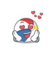 romantic falling in love beach ball cartoon