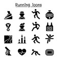 running icon set graphic design vector image vector image