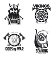 Scandinavian Viking set of logos vector image