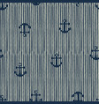 seamless pattern anchor and stripes vector image