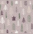 seamless pattern christmas tree pattern repeat vector image