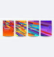set abstract colorful flying block particle on vector image