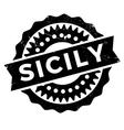 Sicily stamp rubber grunge vector image