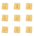 sketchy communication icons vector image vector image