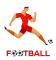 soccer player against the background vector image vector image