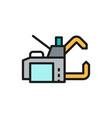 spot welding machine flat color line icon vector image vector image