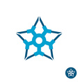 Star tech logo vector image