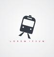subway train transportation icon sign logotype vector image vector image