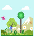 summer of four seasons nature landscape flat vector image