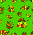 The pattern of autumn leaves vector image