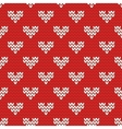 tile knitting pattern with white hearts on red vector image vector image