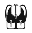 Touristic backpack black simple icon vector image vector image