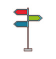 traffic signal arrows guide direction icon vector image vector image