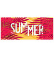 tropical summer banner with palm leaves vector image vector image