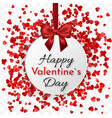 valentines day banner hearts round frame banner vector image vector image