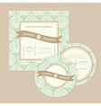 vintage wedding set vector image vector image