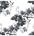 Watercolor garden rowan plant seamless pattern vector image