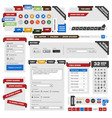 web design element template a set of web design vector image vector image
