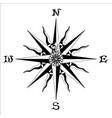 WIND ROSE black white vector image vector image