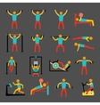 Workout training icons set vector image vector image