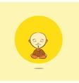 cartoon buddhist monk vector image
