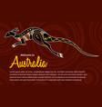 abstract kangaroo vector image vector image