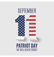 Abstract Patriot Day background template vector image vector image