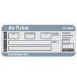air ticket template vector image vector image