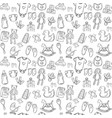 baby seamless pattern background set vector image vector image