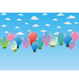Balloons toy sky vector image