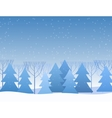 Beautiful Chrismas winter flat landscape vector image vector image