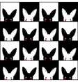 Black White Rabbit Chess board Background vector image vector image