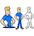 Blue Collar Character Set vector image vector image