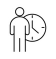 businessman and time clock business management vector image vector image