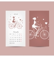 Calendar 2016 grid Fashion girls design vector image