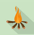 camping fire icon flat style vector image