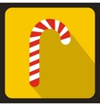 Candy cane icon flat style vector image vector image