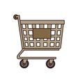 cart buy shop market isolated vector image