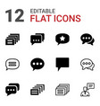 chatting icons vector image vector image