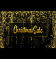 christmas sale gold glitter confetti texture on a vector image vector image