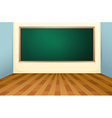 Classroom and board vector image vector image