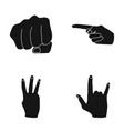 closed fist index and other gestures hand vector image vector image