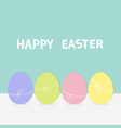 colorful painting egg set row of painted eggs vector image